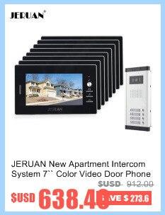 JERUAN Baru 7 inch Warna Video Pintu Telepon Sistem interkom video interkom  Apartemen Sistem Interkom Untuk 8 Rumah Gratis pengiriman 77ff3458f0