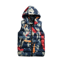 b Mens Women Couples vest Winter Fashion Casual Down Vest Men Camouflage Hoody Vests Man Cotton Sleeveless Waistcoat camouflage zip up furry hood down waistcoat