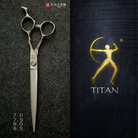 Titan 7inch Scissors Pet Grooming Scissors 440c Steel Hand Made Sharp Professional Scissors Tool Free Shipping