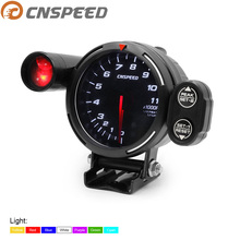 RPM Gauge Tachometer High Speed Stepper Motor 80mm 7 Colors 0 RPM 11000 Meter with Warning Light and Peak Warning YC101357