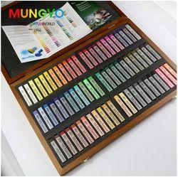 Mungyo галерея художников мягкая Пастельная 72 цвета Стандартный квадратный SZ деревянная коробка MPV-72W