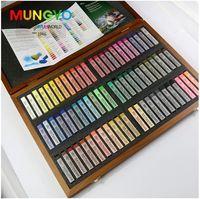 Mungyo Gallery Artists' Soft Pastel 72 Colors Standar Square SZ Wood Box MPV 72W