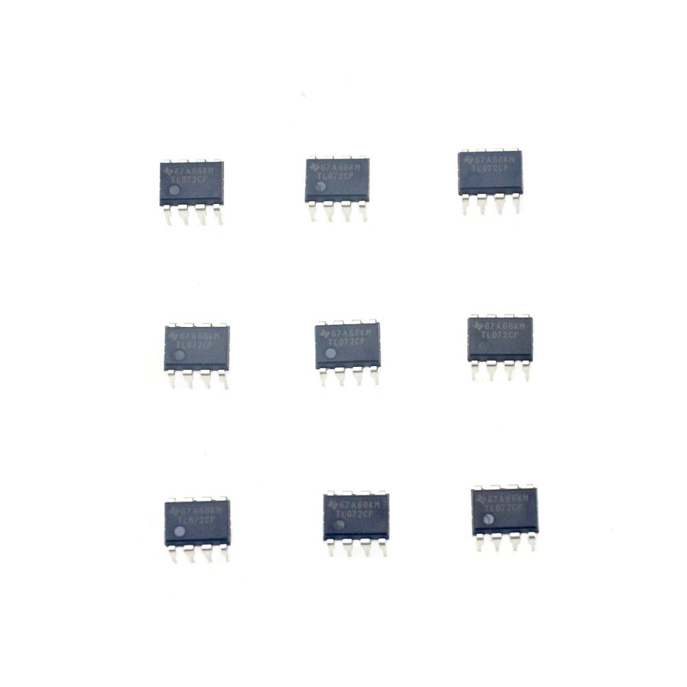 10pcs/lot IC TL072CP TL072 DIP-8 Guitar chorus delay OP AMPS NEW original free shipping