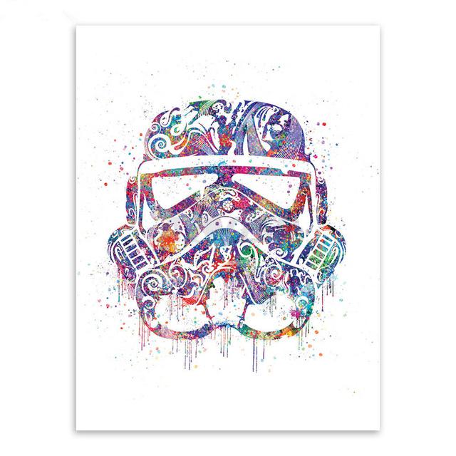 Star Wars Helmet Mask Movie Art Print Poster No frame PP057