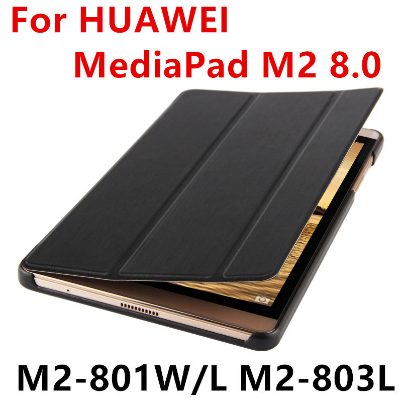 Case For Huawei MediaPad M2 8.0 PU Protective Smart cover Leather Tablet For HUAWEI M2-801W M2-803L M2-802L 801L Cases Protector for mediapad m2 ultra thin smart filp pu leather case cover for huawei mediapad m2 7 tablet case stand cover protective stand