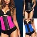 2017 mulheres do espartilho de aço desossado corsets cincher cintura látex de borracha espartilho trainer underwear corpetes slimming body shaper