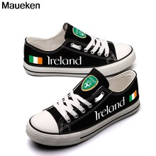 2330f1cdbc2a Hot Printed 2018 men women unisex ireland diy Shoes for fans gift size  35-44 0426-3