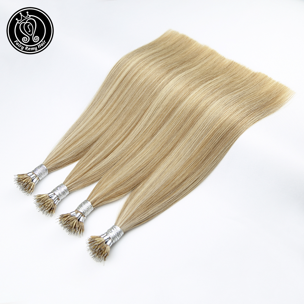 Fairy Remy Hair 0.8g/s 100% Real Remy Nano Ring Human Hair Extensions Double Drawn Micro Beads Ring Hair On Capsule Free DHL