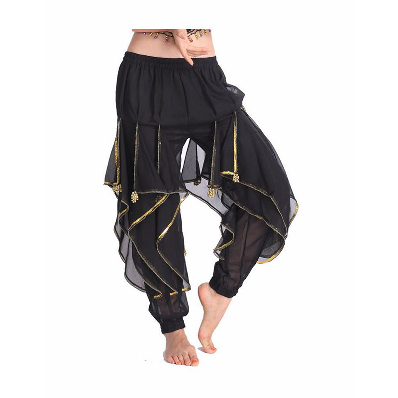 2018 Hot Selling New Cheap Indian Tribal Belly Dance Harem Pants Bloomers For Women Chiffon Belly Dancing Costume Pant 11 Colors