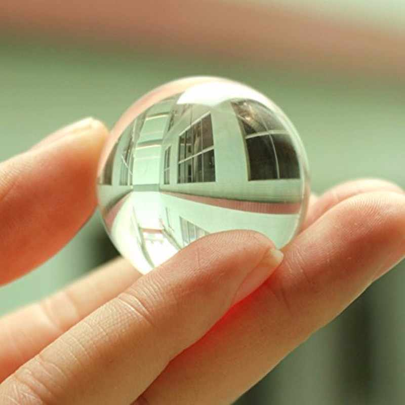 XINTOU 30 mm Crystal Sphere Magic Ball Craft Transparent Feng shui Decorative Glass marbles Balls Kids Gift Home Decor ornaments