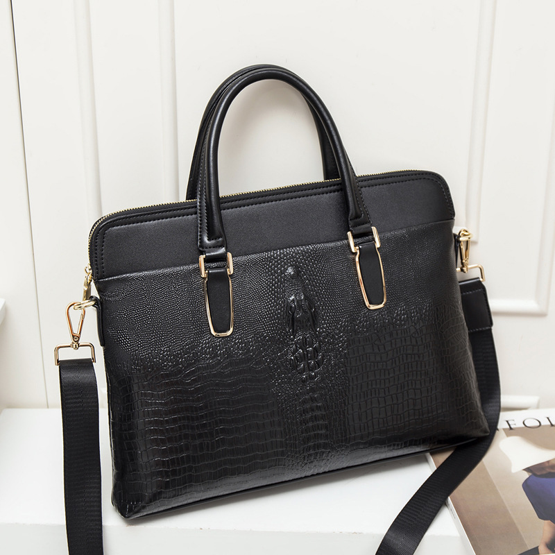 Fashion Female Leather Business Briefcase Bag For 13