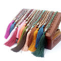 Fashion Sakyamuni Pendant Japanese Beads Necklace For Women Handmade Necklace Weave Long Tassels Statement Necklace LVN117-129