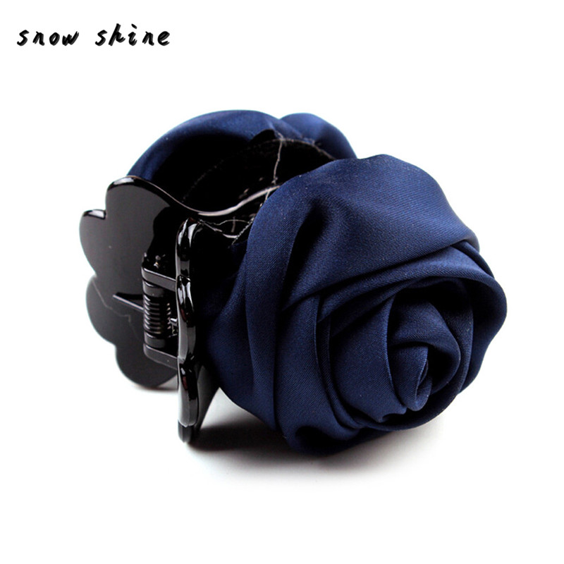 snowshine YLW  Chic Women Roses Barrette Hair Clip Hair Pin Claw free shipping *cydj