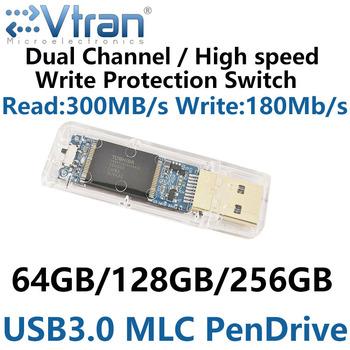 USB3 0 64G 128G 256G MLC USB3 0 WriteProtect Swit FlashDisk IS903 MLC pendrive przezroczysty SLC dysk metalcase czytaj Write210MB s tanie i dobre opinie EVTRAN MICROELECTRONICS Usb 3 0 Z tworzywa sztucznego V03S MLC Flash disk Rectangle Grudnia 2016