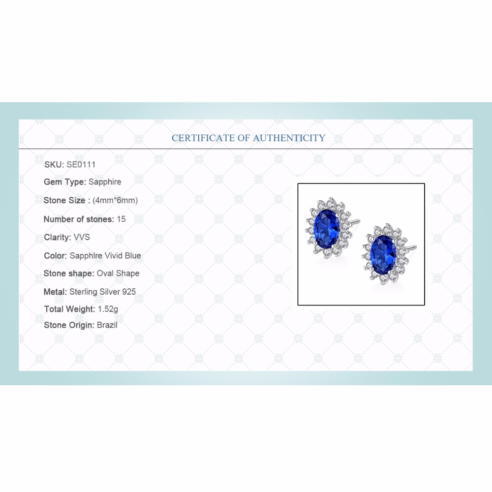 Blue Sapphire Silver Earring 5