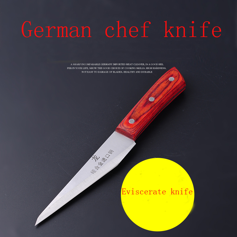Free Shipping LD DEFAM Forged Stainless Steel Kitchen Boning Knife Slaughter Butcher Knives Eviscerate Meat/Bone
