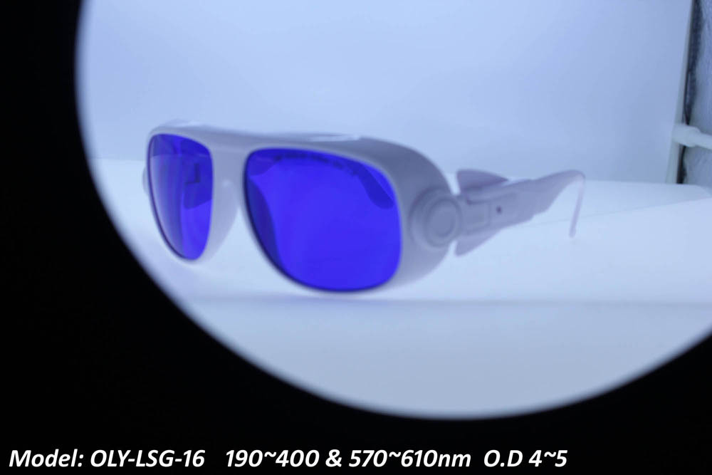 Laser safety eyewear glasses goggles for 190-400nm and 570-610nm O.D 4~5 laser protection goggles safety glasses eyewear spectacle for co2 10600nm