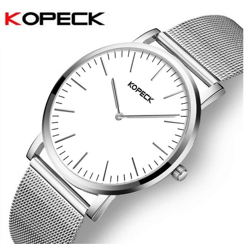 Kopeck Fashion 6mm Ultra Thin Dial Men Watch Top Brand Luxury Leather Strap Male Clock Simple Men's Watches montre homme 2017 ultra thin watch male student korean version of the simple fashion trend fashion watch waterproof leather watch men s watch quar
