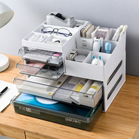 Office desktop storage box plastic drawer Cabinet Office documents miscellaneous items multi layer finishing box XI341027