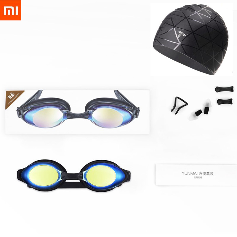 Xiaomi Yunmai Fashion Swimming Glasses Professional HD Anti-fog Swimming Goggles With Nose Clip Earplugs Cap For Adult Eyewear