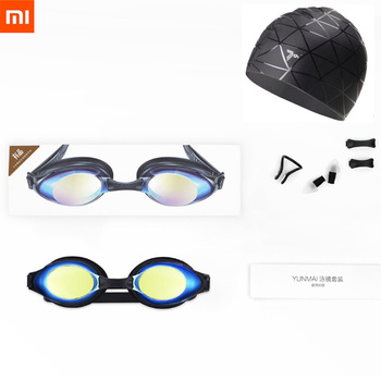 Xiaomi Yunmai Fashion Swimming Glasses Professional HD Anti-fog Swimming Goggles with Nose Clip Earplugs Cap for Adult Eyewear Smart Remote Control