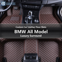 Custom Car Leather Floor Mats for BMW 325Ci 325i 325is 325iX 325xi 328Ci 328d xDrive Luxury Surround Wire Floor Mat 2001 2006