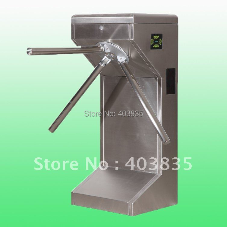 automatic tripod turnstile for intelligent access control automatic tripod turnstile with built in electronics and 2 readers remote control panel for access control system