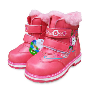 Image 2 - New 1pair PU Leather Winter warm Snow Boot Children Shoes+inner 14 17cm, kids Fashion Shoes