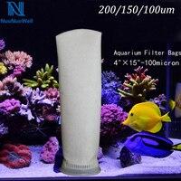 NuoNuoWell 1PC 4 FILTER SUMP MICRON SOCK BAG 200 150 100um BRACKET HOLDER MARINE FISH AQUARIUM