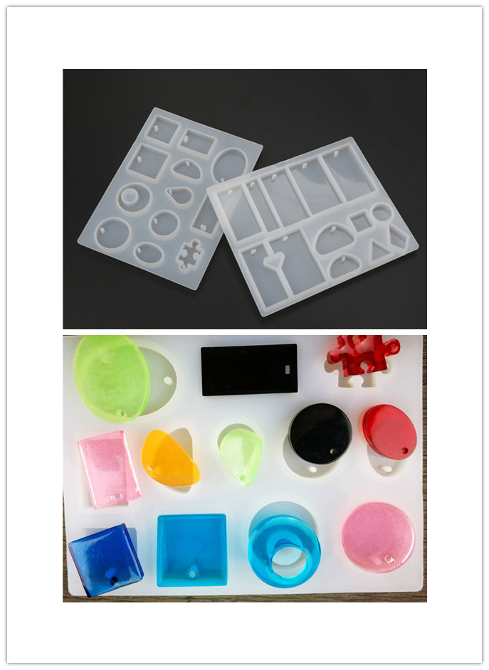 Pendant Scrapbooking Silicone Transparent Combination Mould DIY Tools  Decorative Craft Jewelry Making Mold Resin Molds