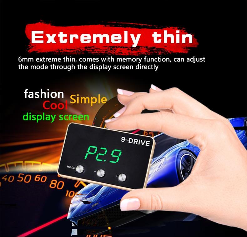 Image 2 - メーカー 9 ドライブ 5 モード車電子スロットルコントローラプラグ & プレイポータブル車の性能電子車 -    グループ上の 自動車 &バイク からの ヘッドアップディスプレイ の中