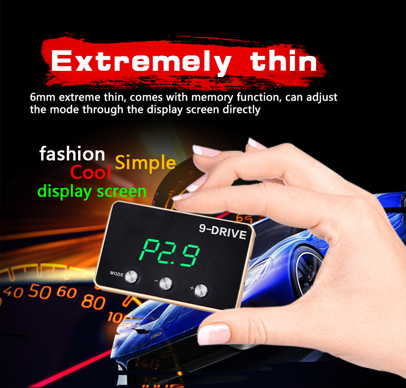 Image 2 - Manufacturer 9 Drives 5 Modes Car Electronic Throttle Controller  Plug & Play Portable Car Performance Electronic Car-in Head-up Display from Automobiles & Motorcycles