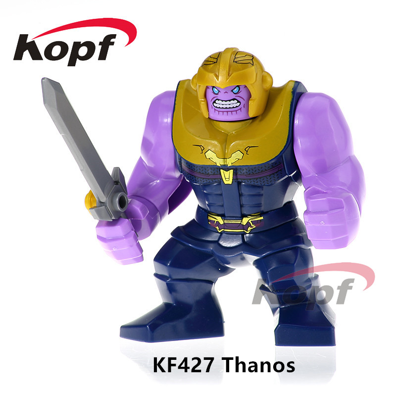 KF427 Super Heroes Avengers INFINITY WAR Thanos Outrider Rocket Captain America Building Blocks Bricks For Children Gift Toys pg8017 super heroes avengers movie scorpion sdcc captain america stan lee building blocks model children bricks toy