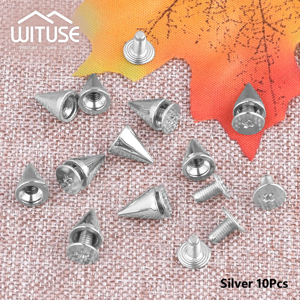10pcs/bag Rivets Silver color 10mm Metal studs and spikes for Clothings silver,gold