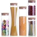 1 piece Transparent glass jars Seal jars Grains storage Bottles spice jar kitchen storage cans Kitchen Storage Organization