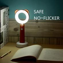 Mini cute Desk Lamp LED Light Eye-protection Adjustable brightness Best Gift for Students Kids Children Rechargeable