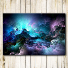 Unreal Clouds Abstract Oil Painting Picture