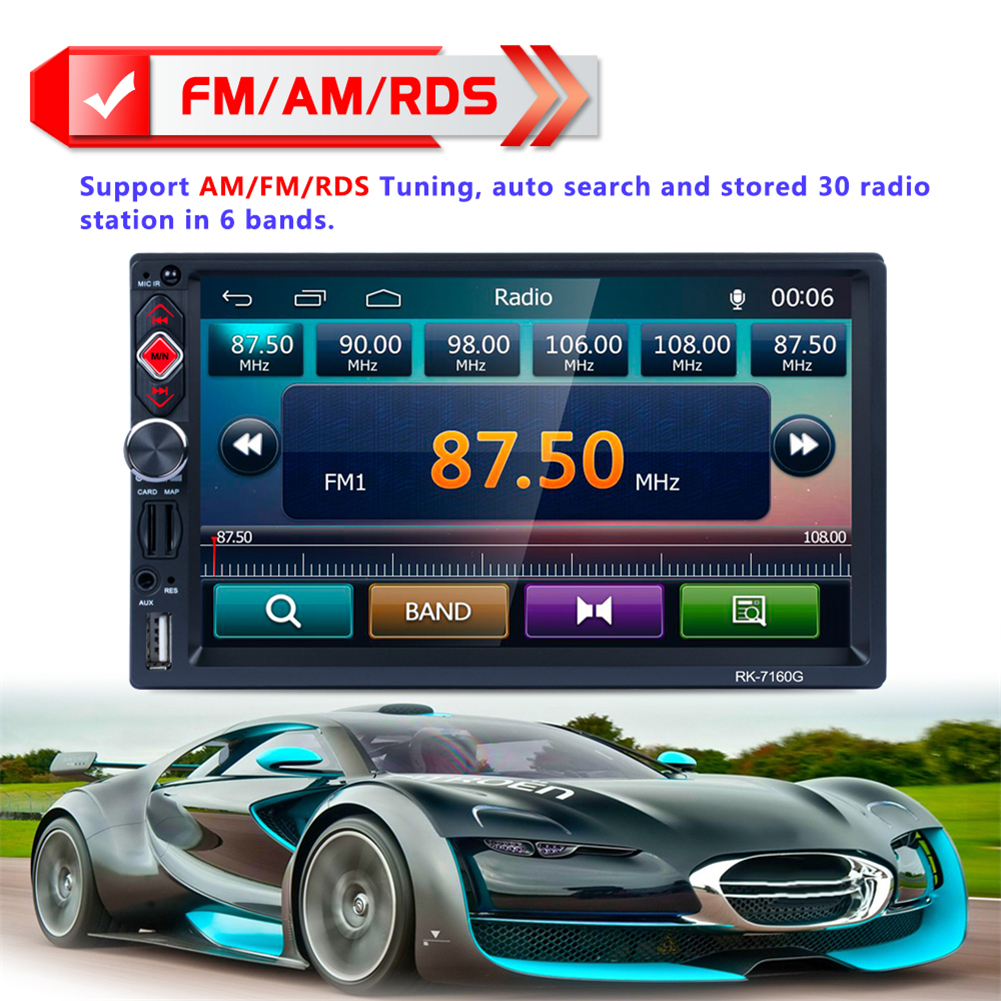 7 Inch 2 Din Bluetooth Car Navigator Radio Mp5 Audio Player Gps Electronics Gt Video Installation Amplifier Kits Reversing Usb Flash Disk Sd Card Rds Mirror Link Function In Multimedia