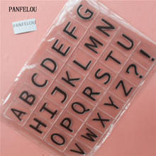 PANFELOU Capital Letters Transparent Clear Silicone Stamp Seal For DIY Scrapbooking Photo Album Decorative