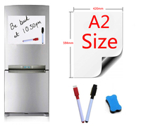Magnetic Whiteboard A2 Size 420x594mm Fridge Magnets Presentation Boards Home Kitchen Message Boards Writing Sticker 2pen1eraser