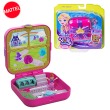 Polly Pocket Cute Girl Doll Hidden World House Original Mini Scene Girls Set Toys for Children Gift Mermaid Kids Toy Accessories