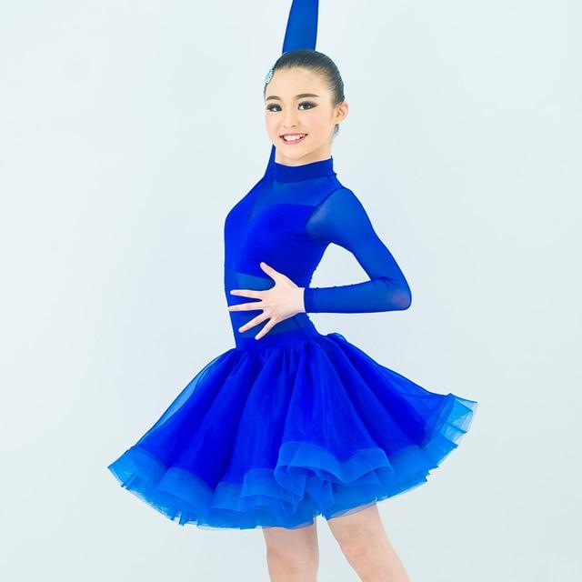 d9e7875d4 Latin Dance Dress For Girls Samba Dress Ballroom Dancing Dress Girl  Dancewear Kids Kid Costume Ballet Vestido Baile Latino Girls