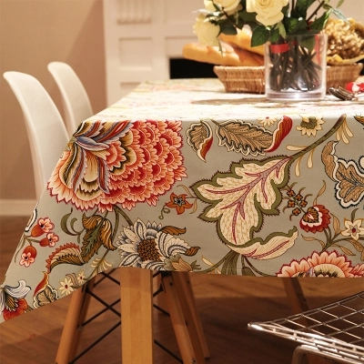 American pastoral style flower table cloth simple tablecloth in Tablecloths from Home Garden