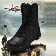 2019 Height Ankle Hiking Shoes Men Non-slip Mangal Combat Military Tactical Boots Outdoors Boots Hiking Camping Mens Sneakers