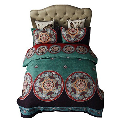 WARMTOUR Bohemia Boho 3D Bedding Set Twin Full Queen King Bedclothes Duvet Cover Set Bedlinen Popular Bedding
