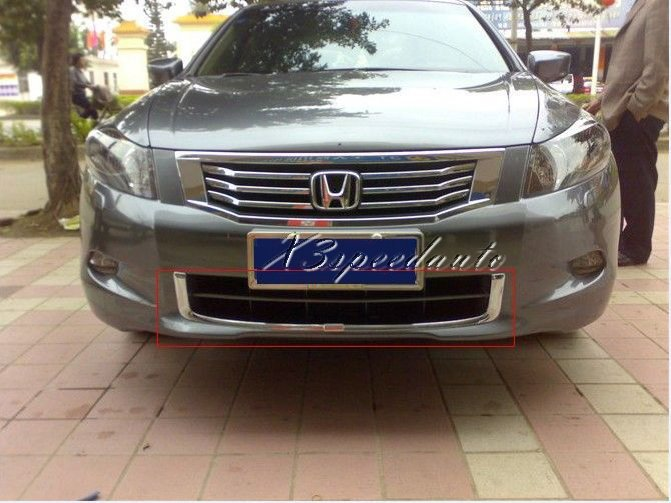 Car Styling Trim Chromed U Shape Front Lower Grille Honda Accord 2008 2009 2010 2011 2012 - X3speedauto store