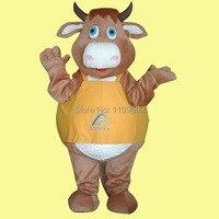 Новый Рождество Bull OX корова Маскоты костюм нарядное платье мультфильм нарядная одежда, Бесплатная доставка