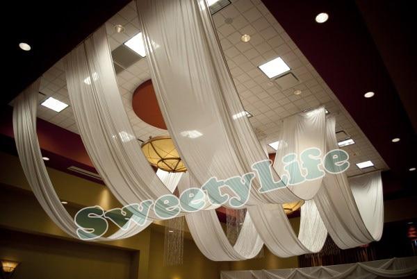 Wedding 10 Pieces Ceiling Drape Canopy Drapery For