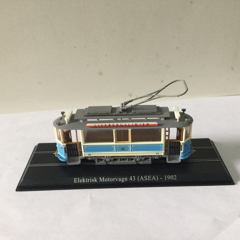LIMITED 1 87 ATLAS Elektrisk Motorvagn 43 ASEA 1902 TRAM Model in perfect condition High Quality