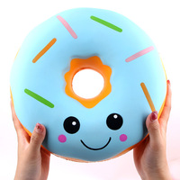 25cm Oversized Cute Donut Squishy Slow Rebound PU Dessert Creative Gift Decompression Toys for Children and Adults Antistress